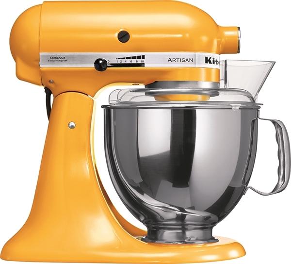 """תמונה של מיקסר מיקצועי צבע פלפל צהוב KitchenAid + מתנה סט ששת בשווי 250 ש""""ח"""