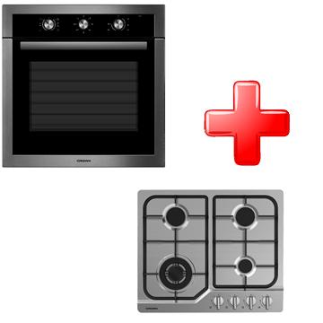 תנור בנוי מכני + כיריים נירוסטה Crown